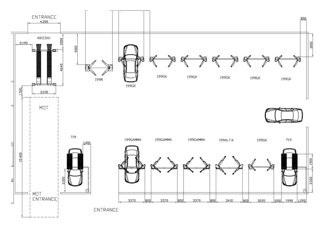 Hippo Motor group lift installation plan diagram
