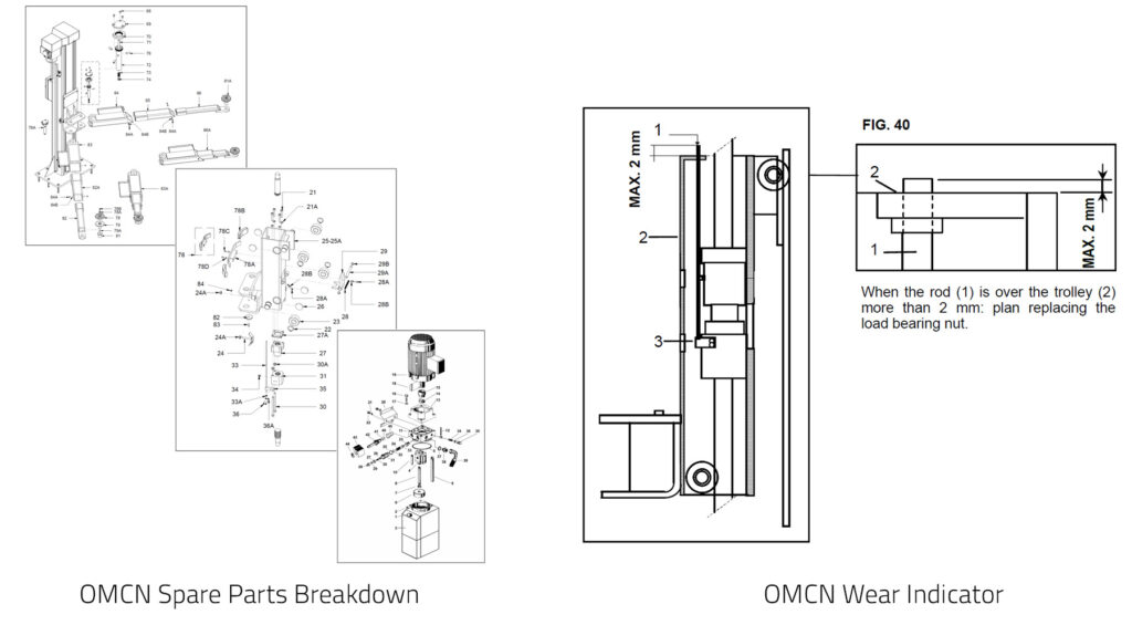Automotive Tools OMCN Spare Part Tech Drawing